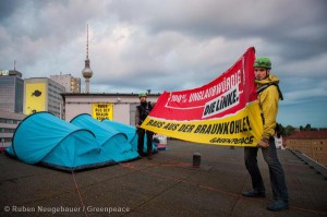 Coal Protest Camp at Die Linke Headquarters in Berlin Braunkohle Protestcamp in der Parteizentrale der Linken