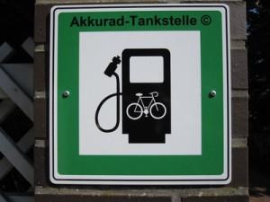 Akkurad-Tankstelle Elektrofahrrad